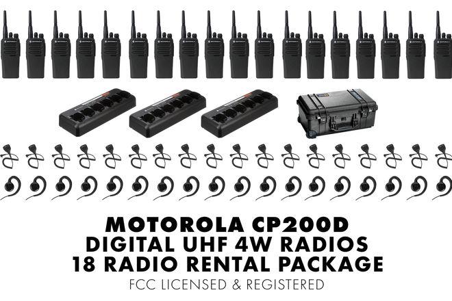 18 Unit Set | Motorola CP200d Digital Walkie Talkie Package