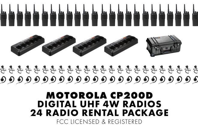 24 Unit Set | Motorola CP200d Digital Walkie Talkie Package