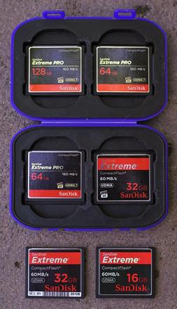7x CF Memory Card Package