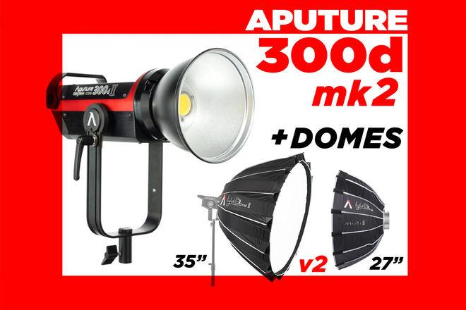 Aputure 300d mark II + Light Dome II & Mini 2 ..( 300 mkII )