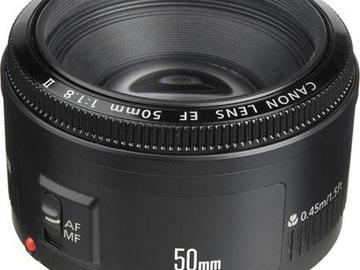 Rent: Canon Lens EF 50mm 1:1.8