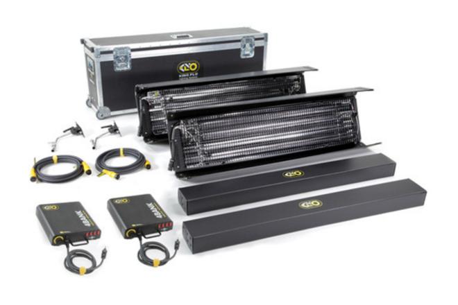 """Kino Flo 4' four bank """"gaffer kit"""" with (2) kinos & tubes"""