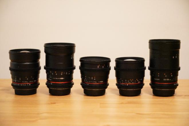 Rokinon EF 5 Cine Lens Set with case [best price]