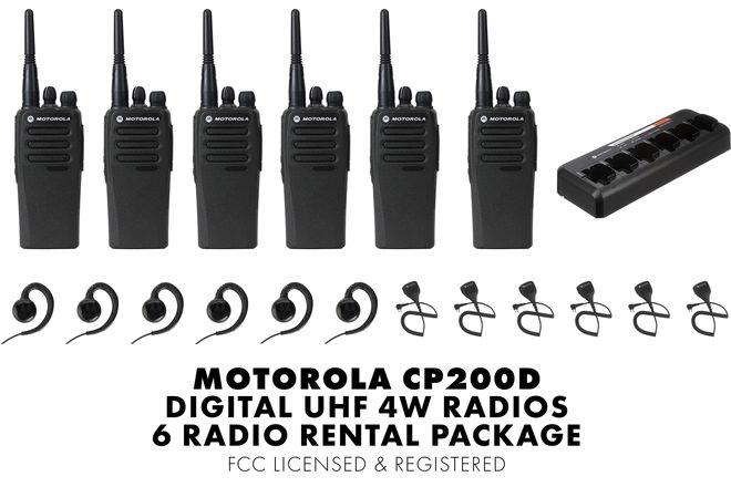 Motorola CP200d Digital UHF | 6 Radios