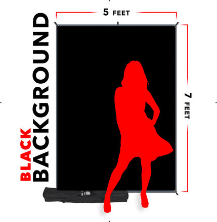Westcott X-Drop Background Kit (5 x 7', Black)