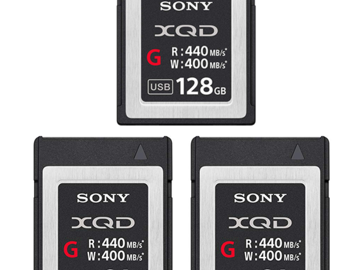 256GB of G Class Sony XQD Media - (3 cards total)
