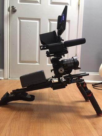 Sony  a7S II + 24-70mm +  Shoulder Rig + Glidecam + Tripod