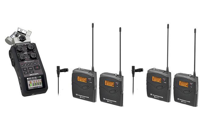H6 Recorder & 2 LAV Sennheiser Microphone G3 BUNDLE