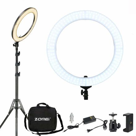 LED Ring Light With Stand 18 Inch 58W Dimmable