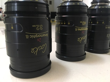 Rent: Cooke Anamorphic i PL Lens set (25 / 32 / 40 / 50 / 75/ 100)