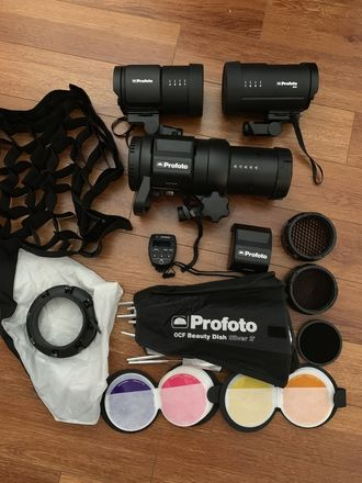 Profoto B10 (x2) + B1X Package: Stands / Modifiers / Extras
