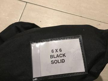 Rent: 6x6 black solid