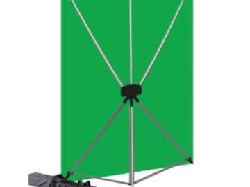 Rent: GREENSCREEN OR BLACK SCREEN 5 x 7 Ft with STAND