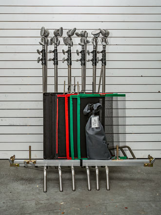grip package with flags and frame
