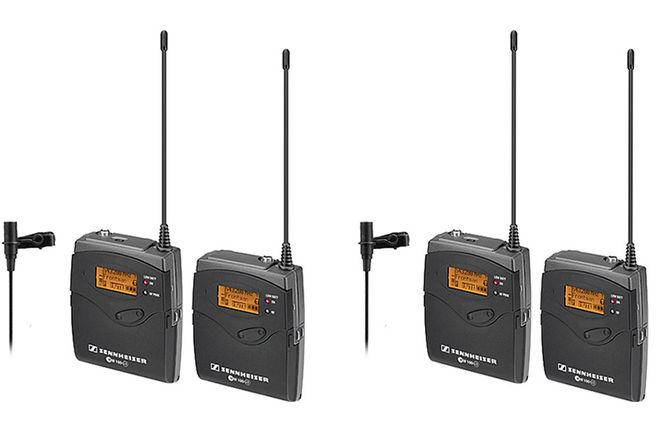 2 LAV Sennheiser ew 112 G3 Wireless Microphone