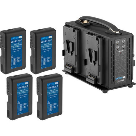 Four Watson Pro 15A High-Load 14.8V 93Wh Batteries & Quad Po