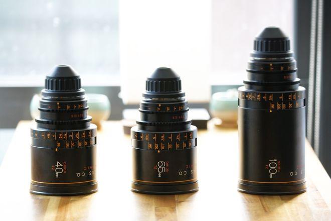 "Atlas Lens Co. Anamorphic T2 Lens Set ""A"" 40-65-100mm"