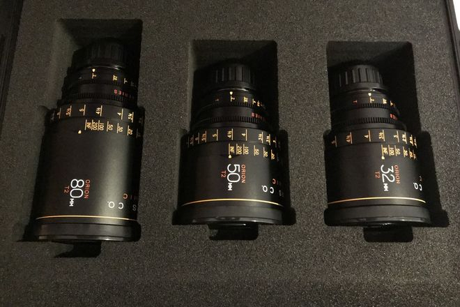"Atlas Lens Co. Anamorphic T2 Lens Set ""B"" 32-50-80mm"