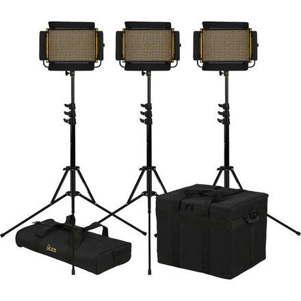 Interview LED Light Kit - iKan Onyx Half x 1