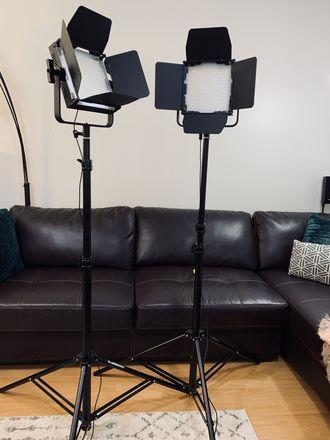 1200 (2x) LEDPanels w/ 3-8 ft. Adjustable Stands