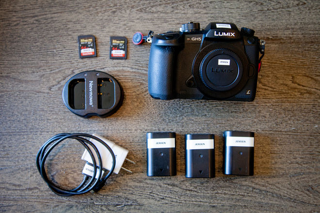 Panasonic Lumix DC-GH5 w/ V-Log, 3 Batteries, 2 Cards
