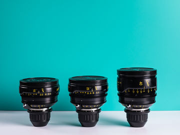 Rent: NEW REDESIGNED Cooke Panchro/I Classic 3 Lens Set 18, 25, 40