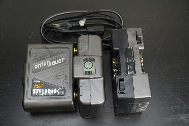 Anton Bauer Gold Mount DIONIC HC Battery 2x w/ Dual Charger