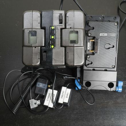 Anton Bauer (2x) Gold Mount Batteries Sony, Canon, Panasonic
