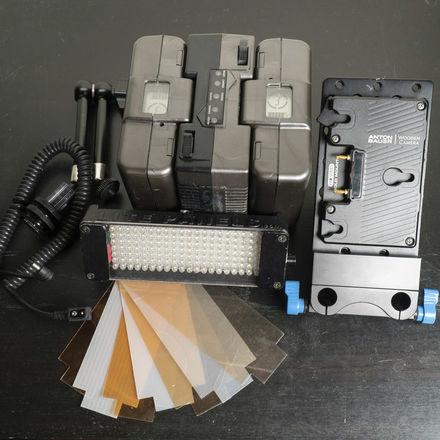 Litepanels LED On-Camera Light Kit w/ Anton Bauer Gold Mount