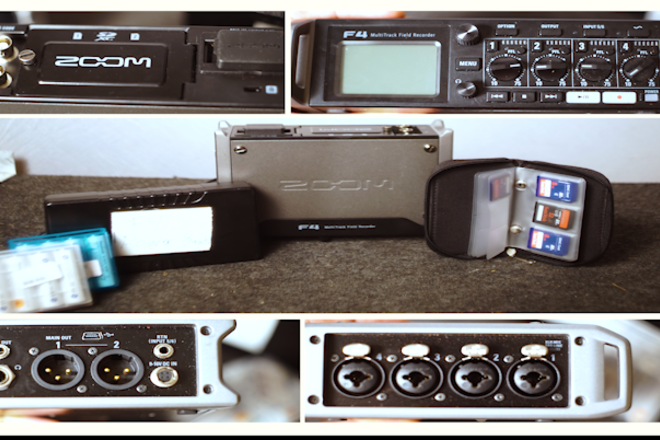 F4 Zoom Multi-Track Field Recorder with Timecode