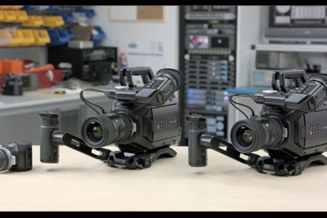 Black Magic Ursa mini 4.6k with view finder shoulder kit