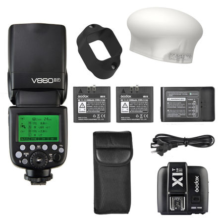 Godox VING V860IIS Flash 4 Sony a7, a7S a7R +2 Batts +MadMod