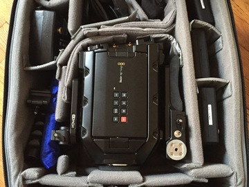 Rent: Blackmagic Ursa Mini 4.6k EF, batteries, media, baseplate