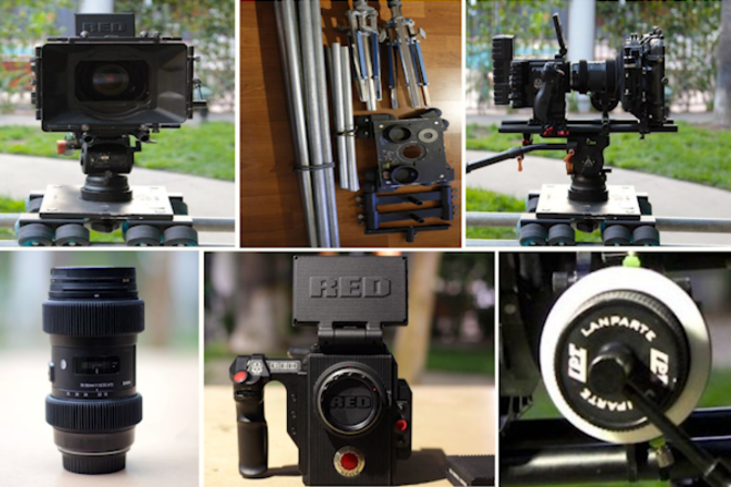 RED Raven, Dana Dolly, Tripod, 18-35, Mattebox, Follow Focus