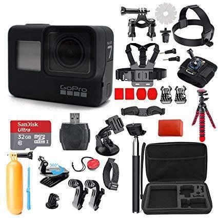 GoPro HERO7 Black w 64GB card + 3 batteries + accessory kit