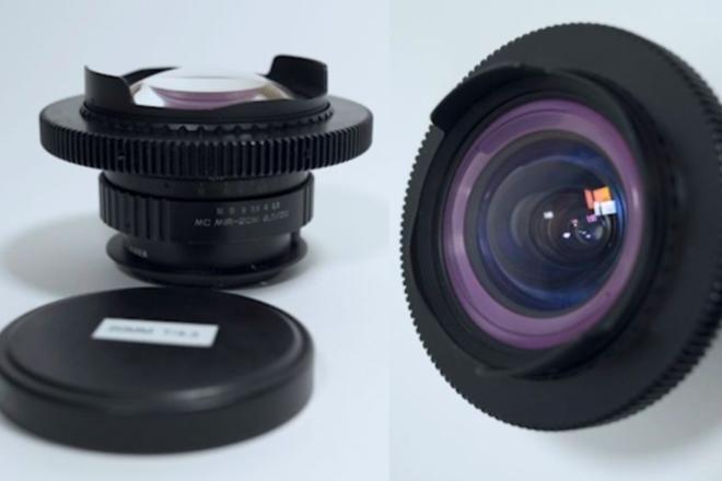 """Anamorphic Mimic 20mm f/3.5 in EF -  Close Focus - 7""""/0.18m"""