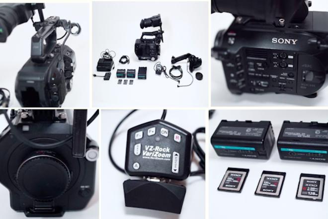 Sony FS7 (2) EF Adapters (Clear & Speedbooster) Power Media