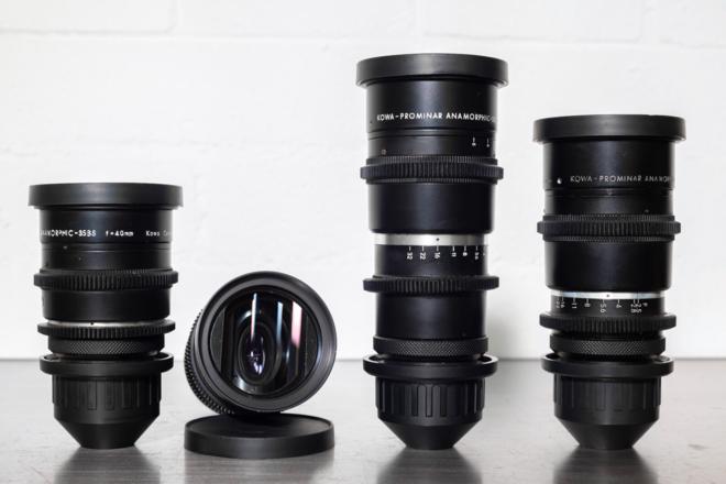 (4) Kowa Anamorphic Prime Lens Set