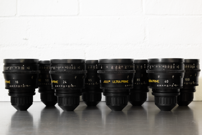 (3) ARRI Ultra Prime T1.9 Lens Set