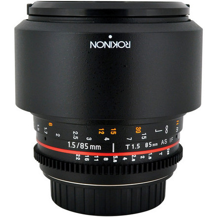 Rokinon 85mm T1.5 Cine Lens for Canon EF Mount