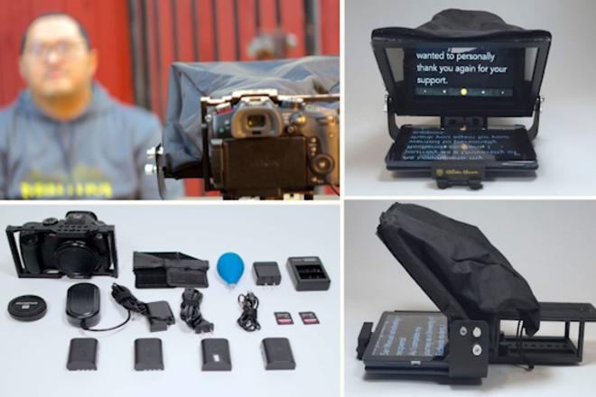 Panasonic GH5S (Meta), Glide Gear Teleprompter, & Apple IPad