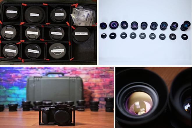 Panasonic GH5S Anamorphic Flare Vintage Bokeh - Ten Lens Set