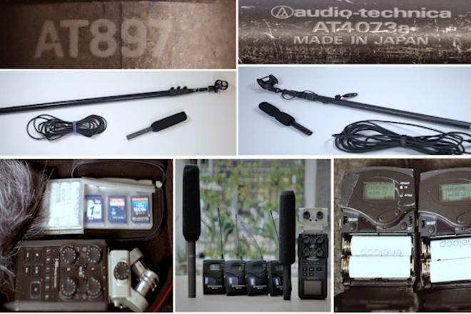 2 Lavs (G3), 2 Booms (Audio Technica), 1 Zoom H6