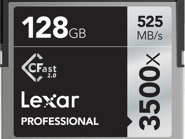 Rent: Set of (2) Lexar 128GB CFast 3500x Memory Cards