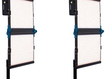 Rent: 2 Dracast 1000 Silver Series Foldable Bi-Color LED LightsBat