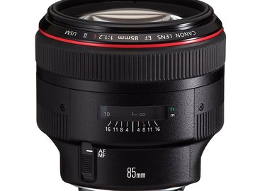 Rent: Canon EF 85mm f/1.2L II USM