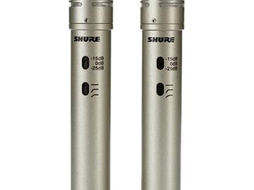 Rent: Shure KSM137 Stereo pair