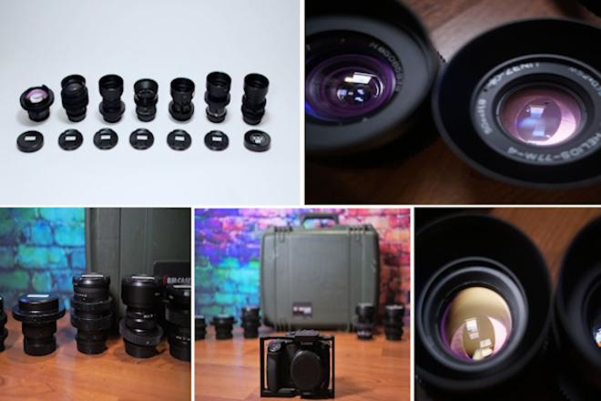 Panasonic GH5 Anamorphic Flare Vintage Bokeh - Seven Lenses