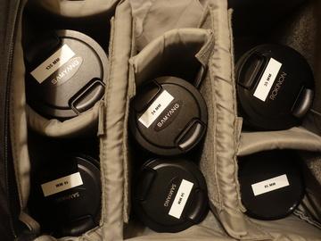 Rent: Set of Rokinon/Samyang Cine lenses 16/25/35/50/85/135