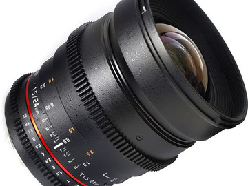 Rent: Samyang 24mm T/1.5 Lens